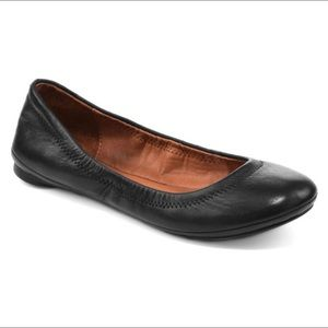 Lucky Brand Chocolate Brown Emmie Leather Flats 8